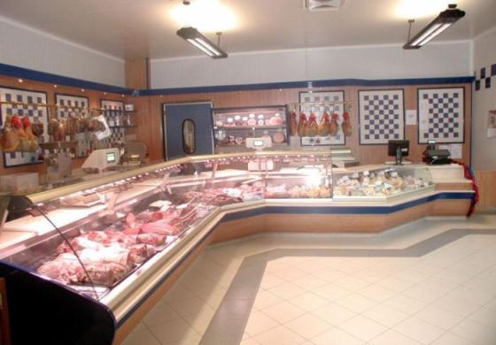 Arredamento per macellerie all'interno di supermercati